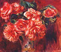 Moss roses, c.1890, renoir