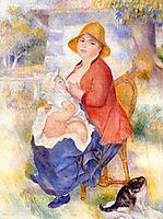 Motherhood (Woman Breast Feeding Her Child), 1886, renoir