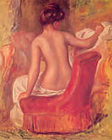 Nude in a Chair, 1900, renoir