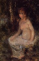 Nude Sitting in the Forest, c.1876, renoir