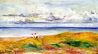 On a Cliff, 1880, renoir