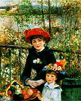 On the terrace, 1881, renoir
