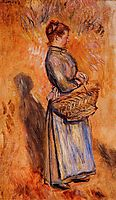 Peasant Woman Standing in a Landscape, 1884, renoir