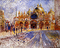 The Piazza San Marco, 1881, renoir
