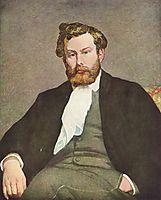 Portrait of Alfred Sisley, 1868, renoir