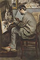 Portrait of Frederic Bazille in his studio, 1867, renoir