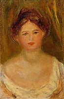 Portrait of a Woman with Hair Bun, renoir