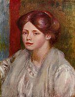 Portrait of a Young Woman, 1887, renoir