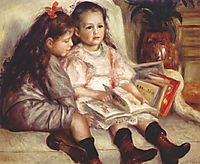 Portraits of Two Children, 1895, renoir