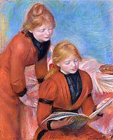 Reading, c.1889, renoir