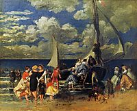 The Return of the Boating Party, 1862, renoir