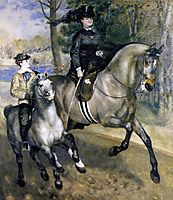 Riding in the Bois de Boulogne (Madame Henriette Darras or The Ride), 1873, renoir