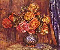 Roses Before the Blue Curtain, renoir