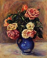 Roses in a Blue Vase, c.1900, renoir