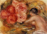 Roses and Study of Gabrielle, 1915, renoir