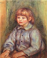 Seated Portrait of Claude Renoir, 1909, renoir