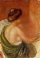 Seated Woman in a Green Robe, c.1890, renoir