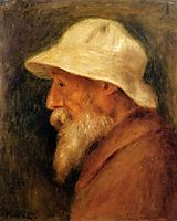 Self-Portrait with a White Hat, renoir