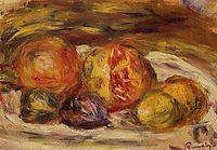 Still Life Pomegranate, Figs and Apples, renoir