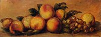 Still Life with Peaches and Grapes, renoir