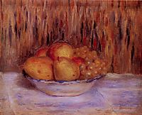 Still Life with Pears and Grapes, renoir