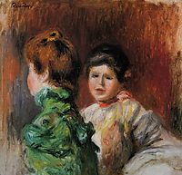 Study Two Women s Heads , 1895, renoir