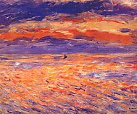 Sunset at sea, 1879, renoir