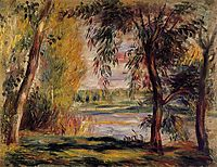 Trees by the Water, renoir