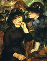 Two girls in black, 1881, renoir