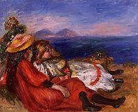 Two Little Girls on the Beach, 1895, renoir