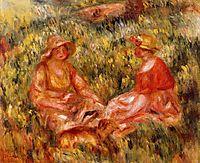Two Women in the Grass, c.1910, renoir