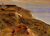 The Varangeville Church and the Cliffs, 1880, renoir