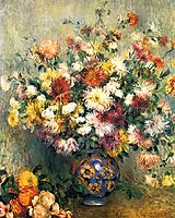 Vase of Chrysanthemums, 1882, renoir