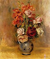 Vase of Gladiolas and Roses, 1909, renoir