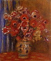 Vase of Tulips and Anemones, renoir