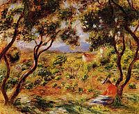 The Vineyards of Cagnes, c.1908, renoir