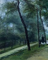 A Walk in the Woods (Madame Lecoeur and Her Children), 1870, renoir