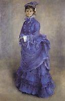 Woman in blue, 1874, renoir
