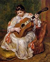 Woman Playing the Guitar, 1896, renoir