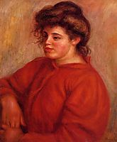 Woman in a Red Blouse, c.1908, renoir