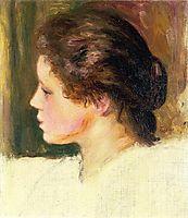 Woman`s Head, 1887, renoir