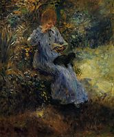 Woman with a Black Dog, renoir