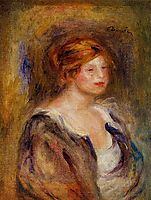 Young Girl in Blue (Head of a Blond Woman), 1909, renoir
