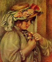 Young Girl in a Hat, c.1900, renoir