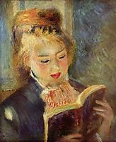 Young Girl Reading, 1874-1876, renoir