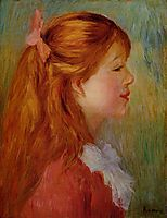 Young Girl with Long Hair in Profile, 1890, renoir