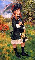 Young Girl with a Parasol (Aline Nunès), 1883, renoir
