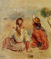 Young Girls on the Beach, 1898, renoir