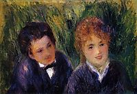 Young Man and Young Woman, c.1876, renoir