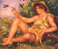 Young shepherd in repose (Alexander Thurneysson), 1911, renoir